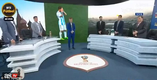 Argentinian TV hosts hold minute's silence after 3-0 Croatia defeat