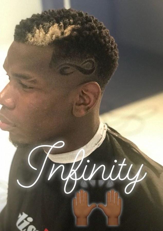 Man Utd Star Paul Pogba Shows Off New Infinity Haircut All