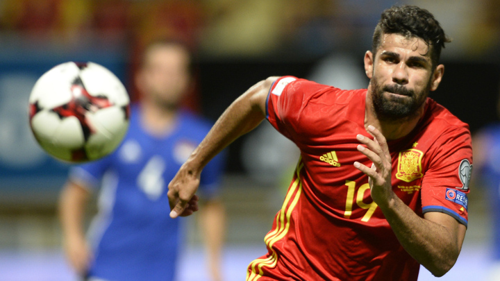Diego Costa replaced by Aspas in Spain squad