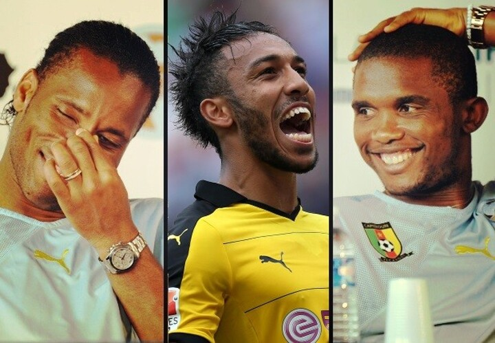 How does Aubameyang compare to Africa's greatest strikers?