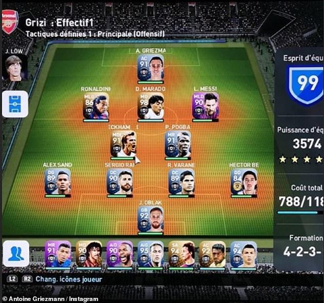 Griezmann reveals his PES dream team: Messi & Ramos in XI, Ronaldo