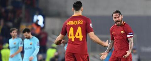 CL: Roma smash Barca to reach semis!