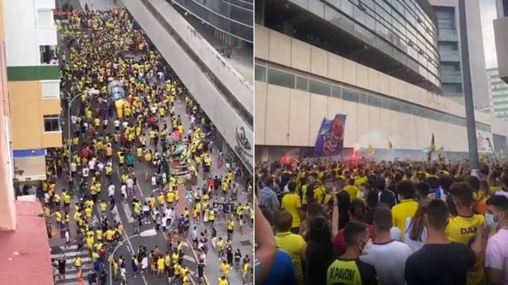 Social distancing ignored as promotion-awaiting Cadiz fans greet ...
